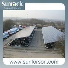 solar panel mounting for solar carport system