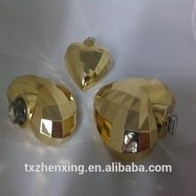 Gold Heart Perfume Glass Bottle