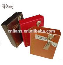 OEM Custom Metallic paper Chocolate Packaging Boxes With Hot Stamping Logo