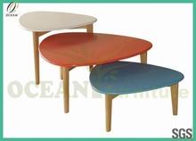 2014 новый morden стиль красочные дуб и мдф деревянные журнальный столик
