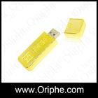 Marketing Resell yellow bar shape gift USB Thumb Drive Disk
