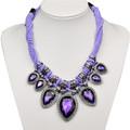 joyería mylove imitaciones de las marcas de color púrpura de corazón collar declaración marca de joyas de imitación de mljq016