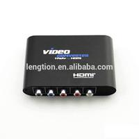 AV 5RCA input R/L Analog Audio/Video Composite CVBS to HDMI Digital Output Converter