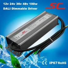 Dali dimmable waterproof constant current 100w 12v led driver 3 years warranty