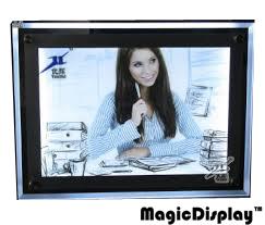 Advertising crystal led acrylic photo frame