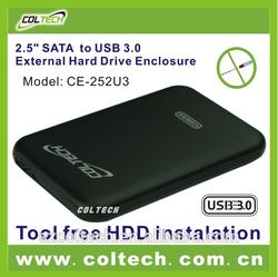 """aluminium alloy 2.5"""" hdd enclosure with SATA interface and usb 3.0 port, sata hdd enclosure internal"""