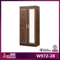 W972-28 áfrica do sul projeto espelho de madeira guarda-roupa guarda-roupa de madeira de cerejeira