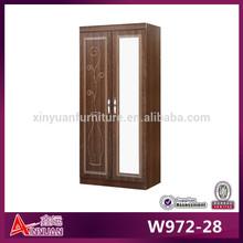 W972-28 South Africa design wood mirror wardrobe wardrobe cherry wood