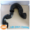 China ABS pipe fitting 4 inch P-trap w plastic compression fitting/ black pvc pipe