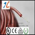 colorido de alta temperatura resistente cabo borrachadesilicone pano coberto de arame ul1332
