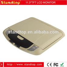 "swivel screen video input monitor 11"" wide screen flip down monitor"