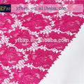 Diseños de bordado de alta calidad de color rosa fusia cupion africana de tela de encaje/nigeriano suizo cordón cuerda para vestidos de novia 2014
