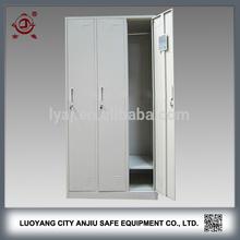 Indian bedroom 3 door steel wardrobe cabinet for hotels