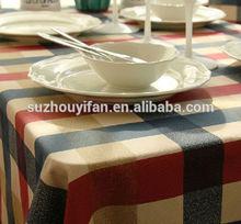 hot sale european pure cotton check table cloth