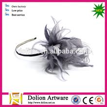 Hot sale !Beautiful handicraft works feather flower headwear !