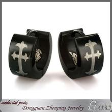 Dongguan black stud earring jewelry wholesale huggie earring
