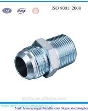 Polished stainless steel JIC/BSPT/NPTScrew Nipple
