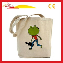 2014 Green Fashion Cotton Rectangular Tote Bag
