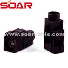 FAKRA SMB Code D Straight Jack female solder/crimp with clip Bordeaux colour for GSM cellular phone connector