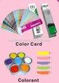 oceanpower venta caliente 258 tarjeta de color para pintar la pared del edificio