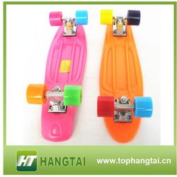 """Sole Skateboard Mini Penny Skateboard Complete 22"""" Blue/Yellow/Purple Mini Longboard Complete"""
