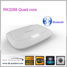 Latest modern android 4.4 tv box RK3288 Bluetooth 4.0 WIFI quad core android tv box dongle h . 265