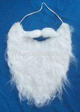 White Fake Beard and Mustache Santa Claus, Wizard, Biker Costume Disguise