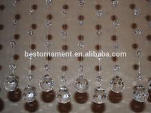 Clear Diamond Crystal Bead Window Curtains