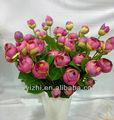 Fleur artificielle et 3 tête de soie Rose bourgeon