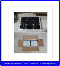 High efficiency competitive price Monocrystalline material 12V 25W Solar Panel