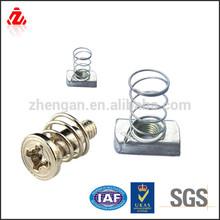 stainless steel knurled head spring screw