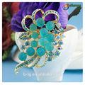 bailange atacado nupcial cristal rhinestone broche nupcial handmade flor broche para o convite de casamento
