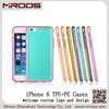 Newest popular best price high quality customized ECO pc+tpu combo thin mobile phone cover for iphone 6 glossy uv printing