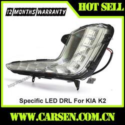 Warranty 12months KIA RIO LED DRL /KIA K2 LED DayLight/ Auto Car Accessories For KIA R2 RIO