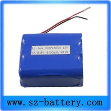 high capacity rechargeable battery pack 3S2P 18650 Lithium 12v lithium ion battery 4ah