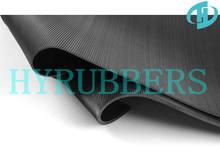 fine ribbed anti sliding rubber floor
