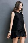 2014 Beautiful latest dress designs black Shift Dress can OEM