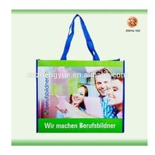 Custom made PET shopping bag/Plastic bottle recycled PET bag/PET non woven bag