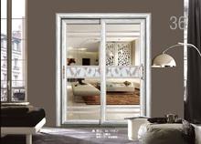 cheap aluminum glass circular/concave sliding/handing door xc1057