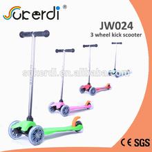 Plug in T bar kids kick 120/80mm three wheels, kids mini scooter