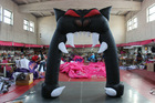 Giant Halloween decorative inflatable monster mouth arch