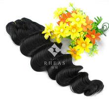 Best quality shining large stock human hair beyonce weaving