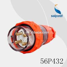 2014 500VAC Adapters EU 32AMP 4P IP67 Industrial Power Waterproof Electrical Plug(56P432)