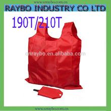 190T/210D or nylon foldable shopping tote bag
