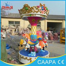 Hot sale amusement park attractive carnival rides carousel, theme park merry go round mini carousel,3 seats carousel for sale
