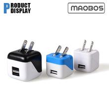 Dice square colorful mini usb charger output 5v 1000ma