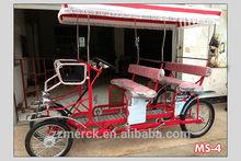stylish tandem bike 4 person bike for sightseeing