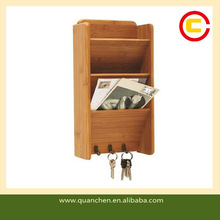 Decorative Bamboo Wall Letter Holder Mail Holder