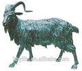 bronzo antico capra statua