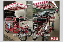 steel frame tandem bike 2 seater bike